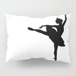 Ballerina silhouette (black) Pillow Sham