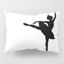 Ballerina silhouette (black) Pillow Sham