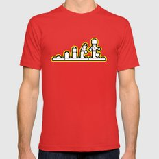 Lego Evolution  Mens Fitted Tee Red LARGE