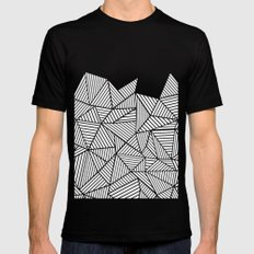 Abstraction Mountain Mens Fitted Tee Black SMALL