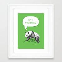 pun Framed Art Prints featuring Panda Pun by Zeke Tucker