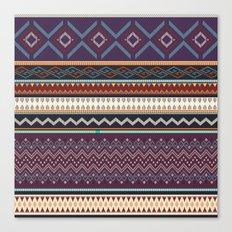Boho Geometric Stripe 3 Canvas Print