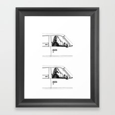 Black metal lipstick. Framed Art Print