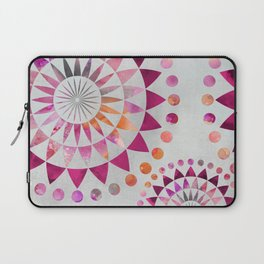 Mandala Pattern in warm shades of orange and pink Laptop Sleeve
