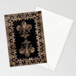 Fleur-de-lis - Black and Gold #1 Stationery Cards