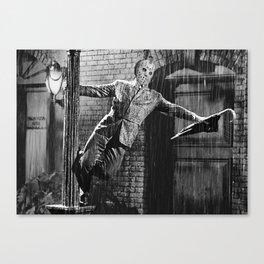 Jason Vorhees sings in the rain Canvas Print