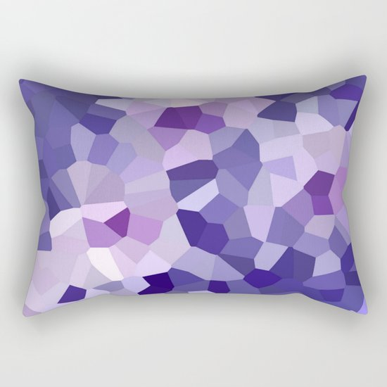abstract floral in blue and purple shades Rectangular Pillow