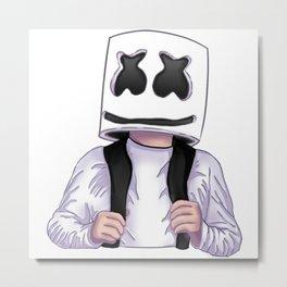 Marshmello fan art Metal Print