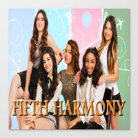 fifth harmony Canvas Prints featuring fifth harmony best design home decoration ideas by customgift