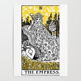 A Floral Tarot Print - The Empress Poster