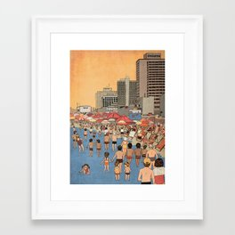 Tel Aviv Beach in the 80s Framed Art Print
