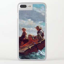 Winslow Homer Breezing Up (A Fair Wind) Clear iPhone Case