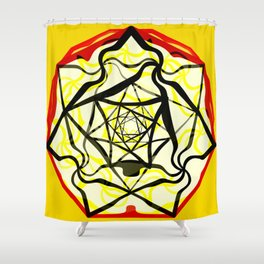 Fleur jaune, 2290k Shower Curtain