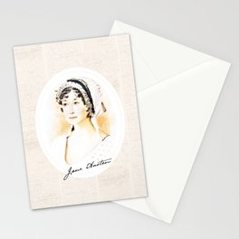 Portrait of a lady writer - Jane Austen Stationery Cards