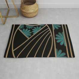 ART DECO FLOWERS (abstract) Rug