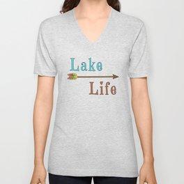 Lake Life - Summer Camp Camping Holiday Vacation Gift Unisex V-Neck