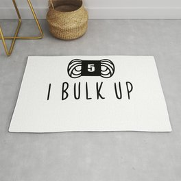 bulk up bro funny yarn knit crochet Rug