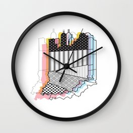 Indy Skyline Wall Clock