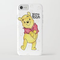 pooh iPhone & iPod Cases featuring Winnie the Pooh by Lozza.