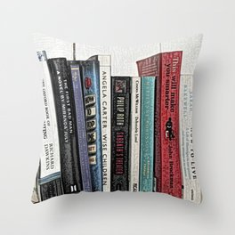 Book shelf love- we are what we read Throw Pillow
