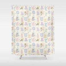 Teddy Bear Alphabet ABC's Shower Curtain
