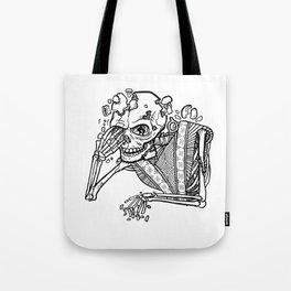 Anxiety Skeleton Tote Bag