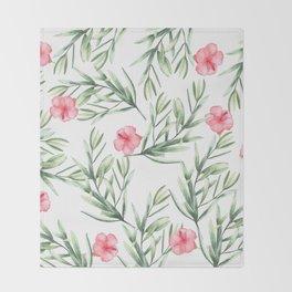 Delicate Hibiscus Throw Blanket