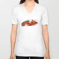 akira V-neck T-shirts featuring Akira by Danny Haas