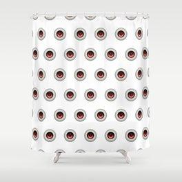 Eyes White Shower Curtain