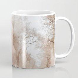 GREY ELEPHANT NEAR TREES WALKING IN THE MORNING Coffee Mug