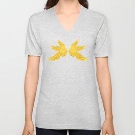 Golden Archangel Wings Unisex V-Neck