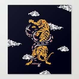Tiger vs Snake Canvas Print