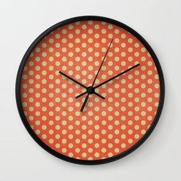Lots of Dots - Geometric Pattern Design (Orange) Wall Clock