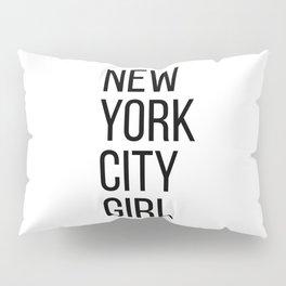 New York city girl Pillow Sham