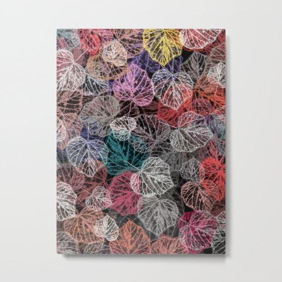 Leaf mosaic(25). Metal Print