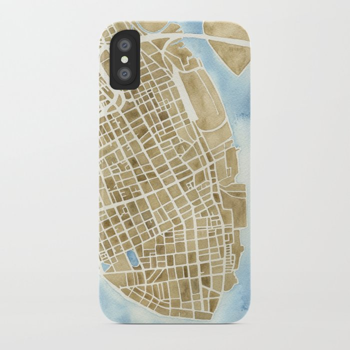 Charleston, South Carolina City Map Art Print iPhone Case by ...