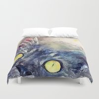 kitty Duvet Covers featuring Kitty by jbjart