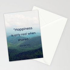 Happiness is only real when shared Stationery Cards