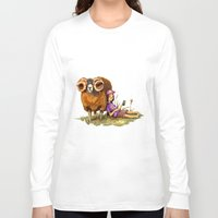 depression Long Sleeve T-shirts featuring Bucolic depression by Maria Manoura
