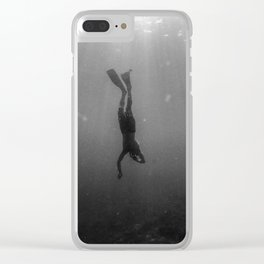 Diving Into The Unknown Clear iPhone Case