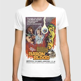 Baron Blood, vintage horror movie poster T-shirt