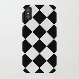 Diamond (Black & White Pattern) iPhone Case