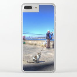 Fishermen And Cats Istanbul Clear iPhone Case