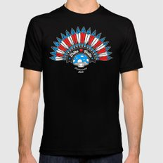 Tribal Patriot Black Mens Fitted Tee X-LARGE