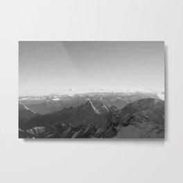 Mountain Alps Black and White Photography Europe Metal Print