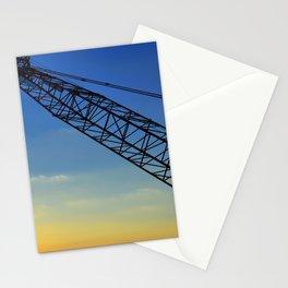 Sunset Construction Crane Stationery Cards