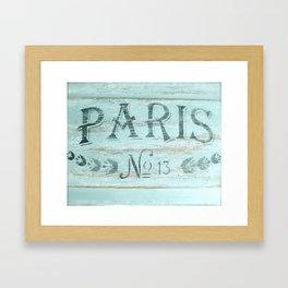 Paris No. 13 Framed Art Print