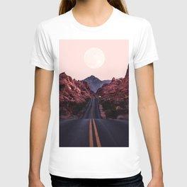 Road Red Moonrise T-shirt