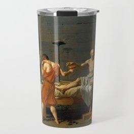 Jacques Louis David The Death of Socrates Travel Mug