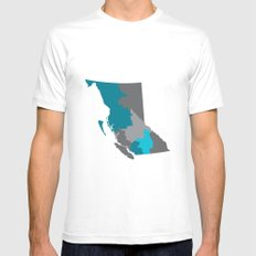 British Columbia Map Print Mens Fitted Tee White MEDIUM